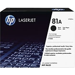 HP 81A Black LaserJet Toner Cartridge; (CF281A)