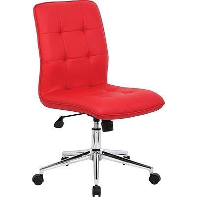 Boss Modern Fabric Executive Office Chair, Armless, Red (B330-RD)