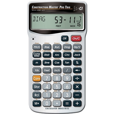 Calculated Industries Construction Master® Pro 4080 Trigonometric Hand-Held Calculator