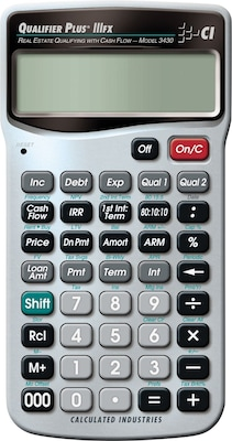 Calculated Industries Qualifier Plus IIIFX(r) 3430 Real Estate Calculator