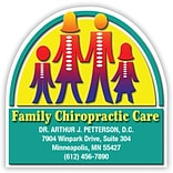 Medical Arts Press® Chiropractic Die-Cut Magnets; 3x3, Family Artwork, Family Chiropractic Care