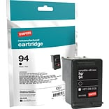 Staples® Remanufactured Inkjet Cartridge Compatible w/ HP 94 Black (C8765WN)