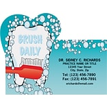 Medical Arts Press® Dental Die-Cut Magnets; Brush Daily