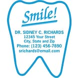 Medical Arts Press® Dental Die-Cut Magnets; Tooth Shaped Smile!