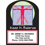Medical Arts Press® Chiropractic Die-Cut Magnets; 2-1/4x2-7/8, Symbol, Keep In Balance