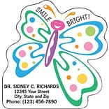 Medical Arts Press® Dental Die-Cut Magnets; 2-7/8x3, Butterfly, Smile Bright!