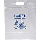 Personalized Zip Close Die Cut Handle Bags; 12x12x6