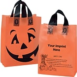 13x10x5 Frosted Pumpkin Shopper Bag