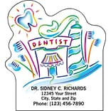 Medical Arts Press® Dental Die-Cut Magnets; 2-3/4x3, Tooth Sun, Paste and Brushes Dental Office