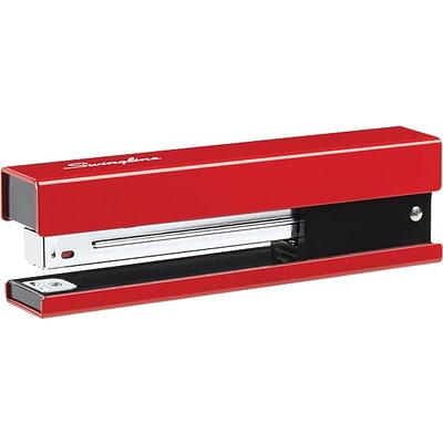 Swingline® Metal Fashion Stapler, Full Strip, 20 Sheets, Red/Black Accent