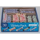 M&M Mars Chocolate Bars Variety pk; 30/pk