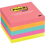 Post-it® Notes, 3 x 3, Cape Town Collection, 5 Pads/Pack