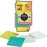 Post-it® Super Sticky Full Adhesive Notes, 3 x 3, Bora Bora Collection, 4 Pads/Pack (F3304SSFM)
