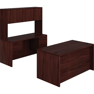 HON 10500 Series Bundle Solutions Desk Credenza Stack-On, Mahogany, 60 x 98