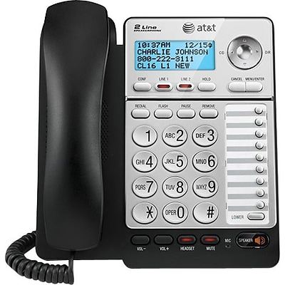 AT&T® ML17928 Two-Line Corded Speakerphone, With Caller ID and Call Waiting