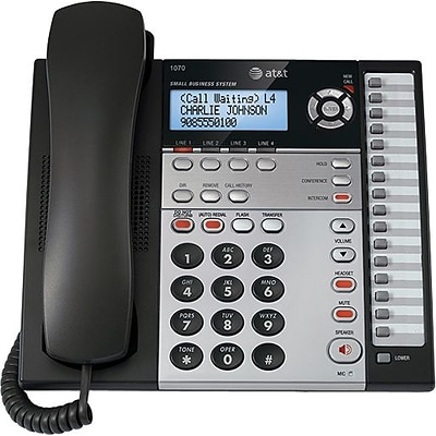 AT&T® 1070 Four-Line Corded Speakerphone with Caller ID