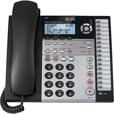 AT&T® 1080 Four-Line Corded Speakerphone with Answering System and Caller ID