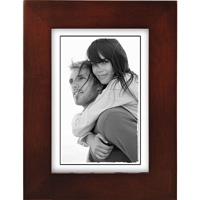 Malden Classic Linear Wood Picture Frame, Dark Walnut, 3 1/2 x 5