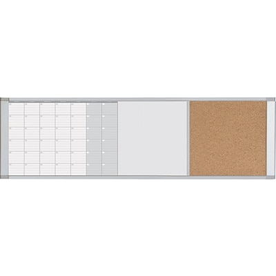 MasterVision  Magnetic Calendar Combo Board, White, 18 X 48 X 3/4 (XA429993700)