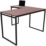 Linea Italia® Seven Series L-Shaped 60x24 Desk; Cherry
