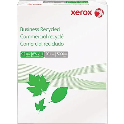 Xerox® Multipurpose Recycled Paper, Letter Size, 92 US Brightness, 8 1/2 x 11, 500 Sheets/Ream