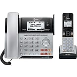 AT&T TL86103 DECT 6.0 2-Line Expandable Corded/Cordless Phone with Bluetooth Connect to Cell and Ans