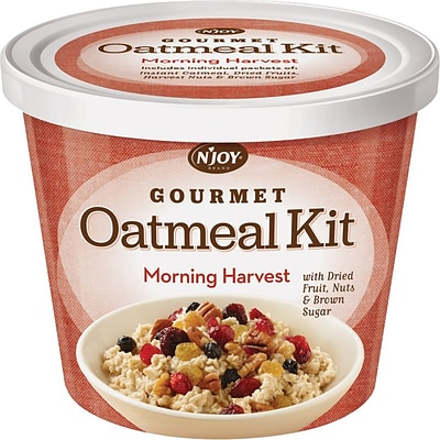 N Joy® Oatmeal with Morning Harvest Toppings, 3.42 oz. Cups, 8 Cups/Box