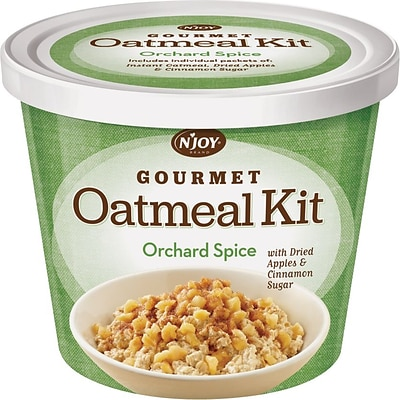 N Joy® Oatmeal with Orchard Spice Toppings, 2.55 oz. Cups, 8 Cups/Box