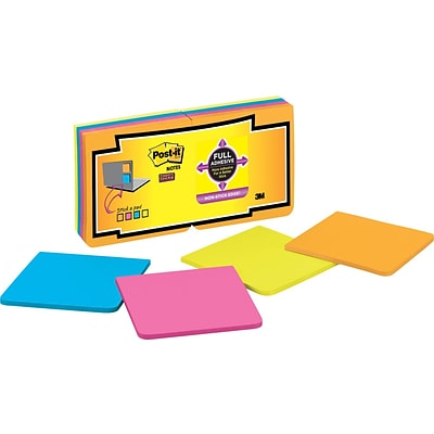 Post-it® Super Sticky Full Adhesive Notes, 3 x 3, Rio de Janeiro Collection, 16 Pads/Pack (F33016SSAU)