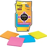 Post-it® Super Sticky Full Adhesive Notes, 3 x 3, Rio De Janeiro Collection, 4 Pads/Pack (F330-4SS