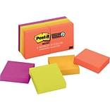 Post-it® Super Sticky Notes, 2 x 2, Marrakesh Collection, 8 Pads/Pack (6228SSAN)