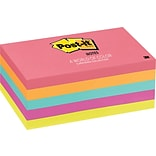 Post-it® Notes, 3 x 5, Cape Town Collection, 5 Pads/Pack (655-5PK)