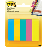 Post-it® Page Markers, 1/2 x 2, Assorted Ultra Colors, 5 Pads/Pack