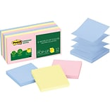 Post-it® Greener Pop-up  Notes, 3 x 3, Helsinki Collection, 12 Pads/Pack