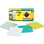 Post-it® Super Sticky Full Adhesive Notes, 3 x 3, Bora Bora Collection, 12 Pads/Pack
