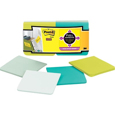 Post-it® Super Sticky Full Adhesive, 3 x 3 Bora Bora Notes, 12 Pads/Pack