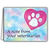 Medical Arts Press® Veterinary Greeting Cards; A Note from Your Veterinarian, Blank Inside