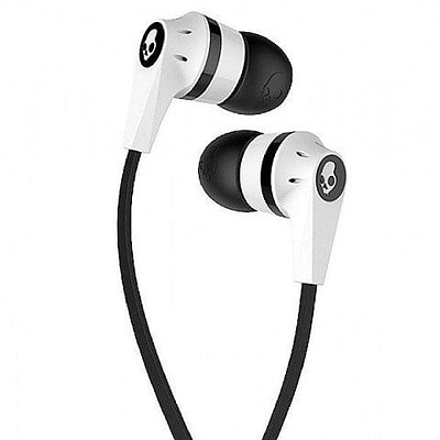 Skullcandy Inkd 2 Earbuds, White/Black