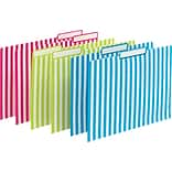 File Folders Verticle 6set Grn/Pnk/Blu