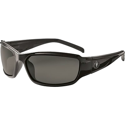 Ergodyne Thor-AF Safety Glasses, Black/Smoke, Anti-Scratch/Fog