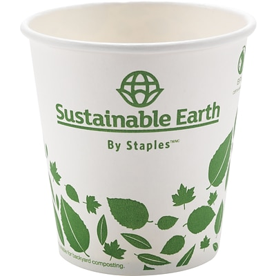 Sustainable Earth 10 oz Compostable Hot Cups, 50/Pack (SEB26218)