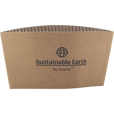 Sustainable Earth by Staples® Hot Cup Sleeves; 500/Pack