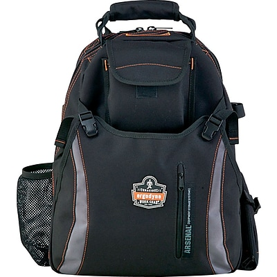 Ergodyne® Arsenal® Tool Backpack With Dual Compartment, Gray, 18H x 8 1/2W x 13 1/2L