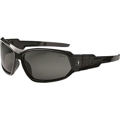 Ergodyne Skullerz® Loki Safety Glasses, Black/Smoke, Anti-Scratch/Fog