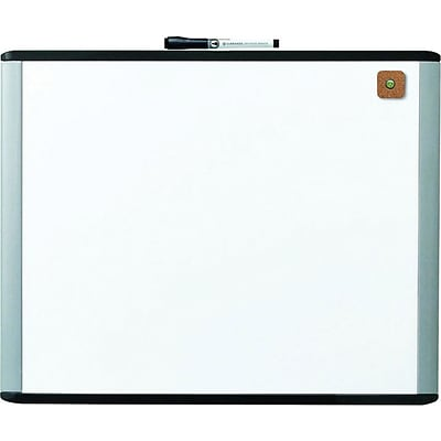 U Brands MOD, 20 x 16, Magnetic Dry Erase Board with Black and Grey Frame (381U00-01)