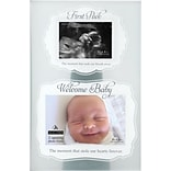 Malden 2-Opening First Peek Sonogram Wood Picture Frame, 4 x 6