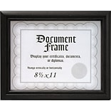 Malden Home Profiles Wood Document Frame, Black, 8.5 x 11