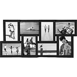 Malden 8-Opening Wood Puzzle Collage Picture Frame, Black, 4 x 6