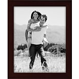 Malden Classic Linear Wood Picture Frame, Espresso Walnut, 8 x 10