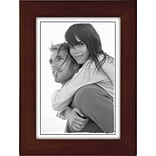 Malden Classic Linear Wood Picture Frame, Espresso Walnut, 5 x 7